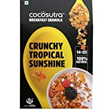 #10: COCOSUTRA Granola - Tropical Sunshine, Breakfast Cereal with Oats, Nuts, Seeds and Dry Fruits (300gm)
