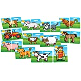 Enlarge toy image: Orchard Toys Farmyard Heads and Tails Game