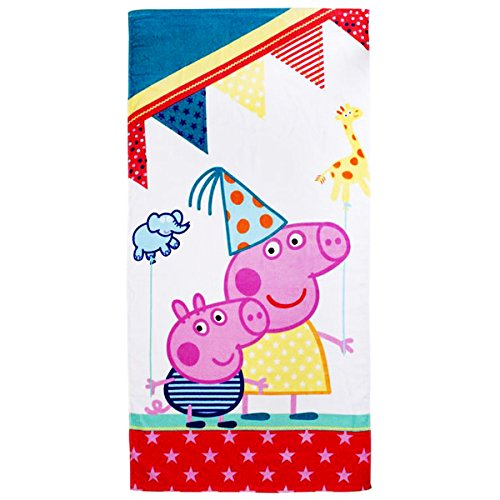Veka Classic Collection Peppa Pig Funfair Kinder Badetuch 70x140cm
