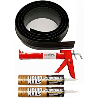 Auto Care Products Inc 53020 20-Feet Tsunami Seal Garage Door Threshold Seal Kit, Black by Auto Care Products Inc.