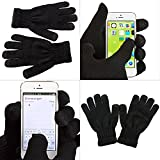 iProtect Premium Touchscreen Handschuhe – für Geräte wie Apple iPhone 6, 6 Plus, iPhone 7, 7Plus, iPhone 5, Samsung Galaxy S6, S6 Edge, Samsung Galaxy S7, S7 Edge und alle weiteren Smartphones – in schwarz