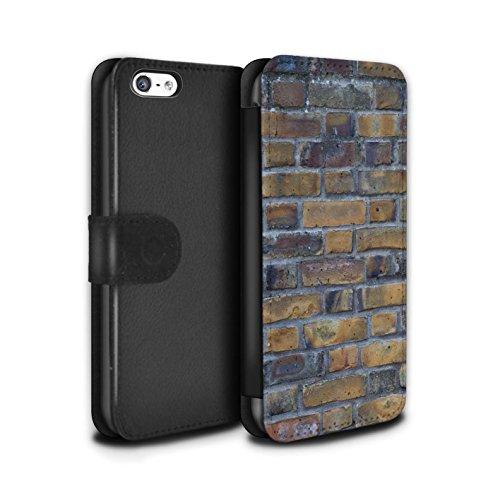 Stuff4 Coque/Etui/Housse Cuir PU Case/Cover pour Apple iPhone 5C / Incomplet/Rouge Design / Maçonnerie Collection Ancien/Jaune