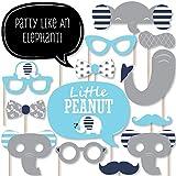 Big Dot of Happiness Elefante azul – Boy Baby Shower o fiesta de cumpleaños foto Booth Props Kit – 20 unidades