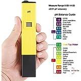 SAFESEED PHMTR001 Digital Lcd Pocket Pen Type Ph Meter for Water Purity Pool Aquarium Measurement, Yellow