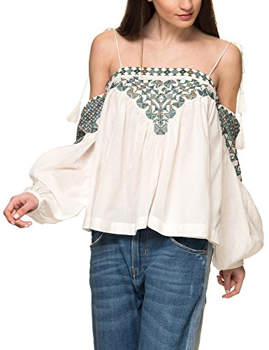 Free People Women's Vacay Vibin Women's Ivory Top 100% Cotton