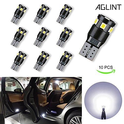 AGLINT 10X T10 W15W 194 CANBUS KFZ Innenbeleuchtung Birne Auto Rücklicht Türleuchte Innen Kennzeichenbeleuchtung Lampen Standlicht Licht Lampe 6000K Weiß 12V