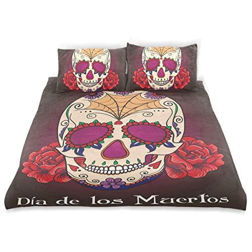 Dia De Los Muertos Dekor - Soefipok Dekor Bettbezug Set, Schädel Dia