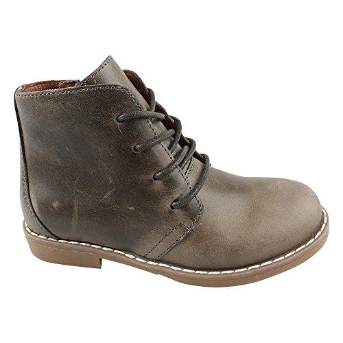 EN FANT Shoes Lace, Bottes mi-hauteur non doublées garçon Gris - Grau (Grey 07)