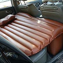 LPY-Colchón inflable negro oscuro universal del coche para el asiento trasero del sedán,
