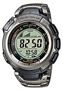 CASIO Sport Pro Trek PRW-1300T-7VER - Reloj unisex de cuarzo, correa de titanio color plata de Casio