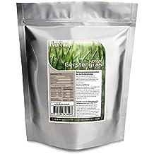 Nurafit reines Gerstengras-Pulver | 100% vegan | 100% glutenfrei | zertifizierte Spitzenqualität | Gerstenpulver ohne Zusatzstoffe | Gerstengras zum Entschlacken, Entgiften und Abnehmen | 500g / 0,5kg