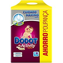 Dodot - Activity Toallitas - 4 paquetes 216 toallitas - Pack de 3 (Total 648
