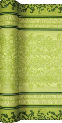 Unbekannt Tischläufer Rolle Barock Lace grün/Airlaid/Tischband für Party/Geburtstag 40cm x 5m
