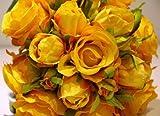 ZHANGYUSEN High-End-Künstliche Blumen, Diamanten, Rosen, Hochzeit Bräute, Brides Bouquet, Children's Daughter's House Bouquet, Farbe Orange