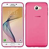 TBOC Coque Gel TPU Rose pour Samsung Galaxy J7 Prime G610F G6100 (5.5 Pouces) en Silicone Souple Ultra Mince Etui Housse