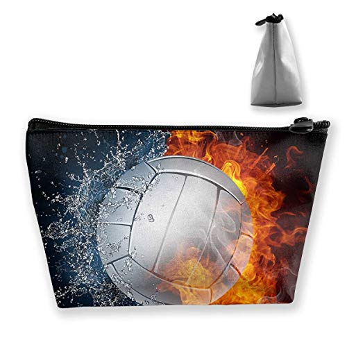 Make-Up Cosmetic Tote Bag Carry Case Portable Travel Makeup Case Pouch Toiletry Wash Organizer Hot Volleyball Between Fire and Water