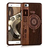 kwmobile Huawei P8 Lite (2015) Hülle - Handy Schutzhülle aus Holz - Cover Case Handyhülle für Huawei P8 Lite (2015)