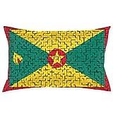 MedieMo Fundas de Almohada Decorativas con diseño de la Bandera de Granada, Suaves y acogedoras, tamaño estándar de 20 x 30 Pulgadas con Cremallera Oculta