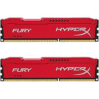 HyperX Fury HX316C10FRK2/8 Arbeitsspeicher 8GB (1600MHz, CL10, 2x 4GB) DDR3-RAM Kit rot