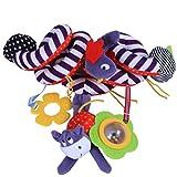 Ruiying Spirale Spielzeug, Kinderwagen, Spielzeug, Bett Hängen, Spielzeug, Baby-Autositz-Spielzeug mit Vögelchen ,Dehnen Länge: 60cm