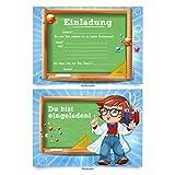 Einladungskarten (8 Stück) zur Einschulung Schule Einladung Karten