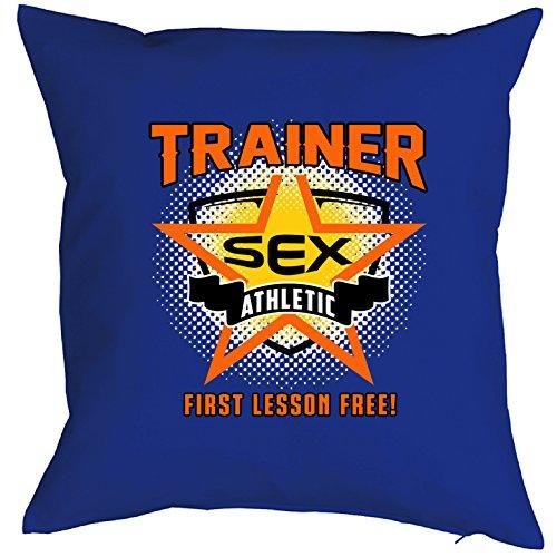 Kissen-trainer (FUN Deko Kissen ::: TRAINER Athletic ::: Kuscheliges mit frechem Spruch)