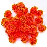 #5: Pom Pom Balls For Craft and Decorations Purpose 50 Pcs Orange Color