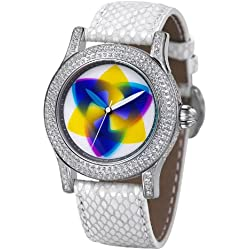 Rainbow e-motion of color Women's Automatic Watch EX44-SW-tr with Leather Strap