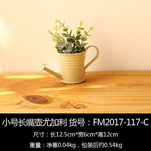 Unechte Blumen Heimtextilien Blume Blume simulation Topfpflanzen vase eisernen Ornamenten Handwerk Wohnzimmer balkon Cafe Einrichtung, die Posaune: Topf von Eukalyptus (Posaune Ornament)