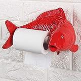 MOCHENG Toilettenpapierhalter Kreativ Toilettenpapierhalter frei stanzen Wandmontage Badezimmer Toilettenpapierhalter rot
