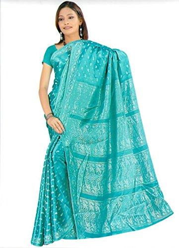 Bollywood Sari Vestido turquesa ca128