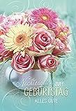 Karte Geburtstag Motiv Nachträglich Strauss Blumen Rosen Gerbera - Liefermenge 5 Stück