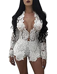 Ninimour Womens Open Front Lace Crochet 2 Piece Outfits Shorts Set