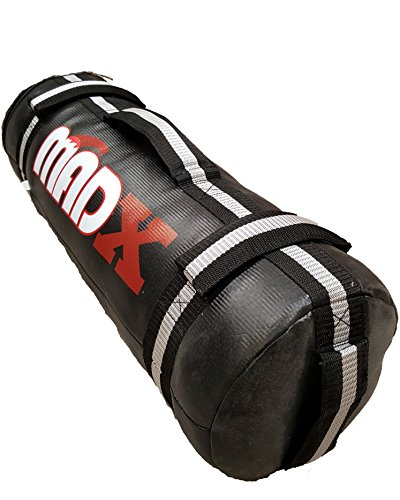 MADX Power Cloth Sand FILLED Bag Crossfit Powerbag Training Sandbag Black 0-30kg