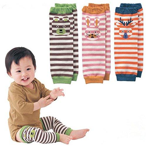 Les tout-petits enfants animaux Chaussettes montantes Motif rayures Chaussettes souple d'hiver pour les Enfants de bébé Ramper 0-36mois