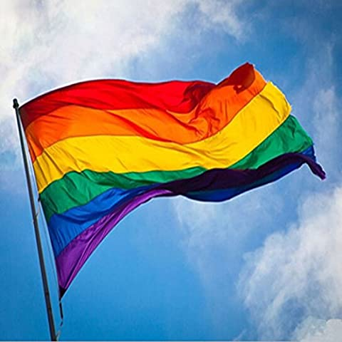 Caxmtu Rainbow Flag Polyester 90x150cm