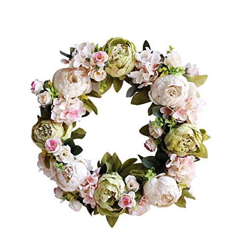 blumenkranz, Wandkranz Handgefertigt Kranz, wunderschöne Dekoration für Frühling und Ostern By Pultus