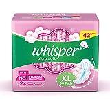Whisper Ultra Soft Sanitary Pads for Women, XL 50 Napkins
