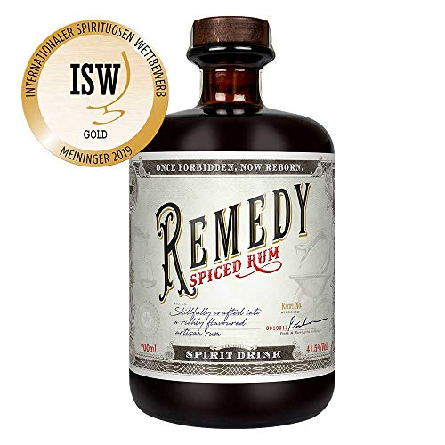 Remedy Spiced Rum (1 x 0,7 l) - Gold Meinigers International Spirits Award 2019 - Feine Noten von u.a : Vanille, Orangenschalen