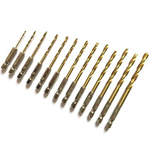 13pcs Stahl Hexagon Griff Bit Set f¨¹r Elektro-Schrauber Austauschbare Kombinierter Griff Werkzeug Regard