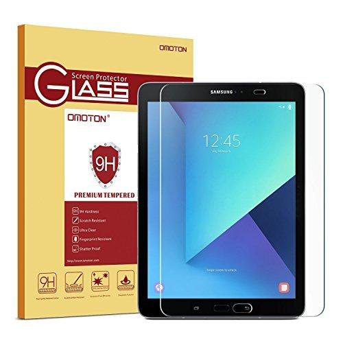 OMOTON Panzerglas Schutzfolie für Samsung Galaxy Tab S2 9.7 und Samsung galaxy Tab S3 mit [9H Härte][ Anti-Kratzen][Kristall-klar], Bläschenfrei zu Montage