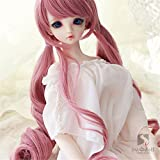 Tita-Doremi BJD bambola parrucca Ball-jointed Doll 1/3 8-9 Inch 22-24cm Pullip Wig SD DOD DD MSD Pink parrucca Hair Toy Head (Solo La Parrucca,Non Una Bambola)