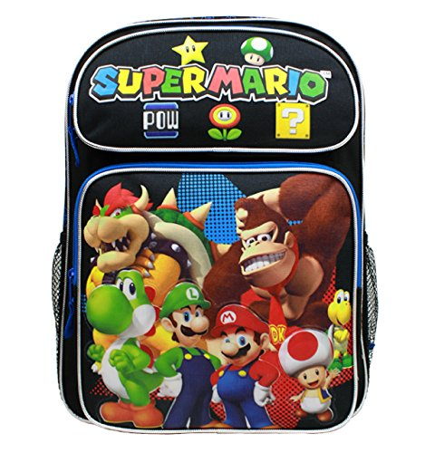 Backpack - Nintendo - Super Mario Group Black 16