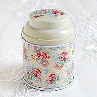HuntGold floral joint double couche chariot à thé boîte de bonbons conteneur ménager(jaune)