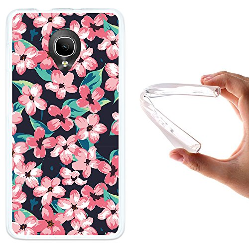WoowCase Alcatel OneTouch Pop Up Hülle, Handyhülle Silikon für [ Alcatel OneTouch Pop Up ] Vintage Blumen Handytasche Handy Cover Case Schutzhülle Flexible TPU - Transparent