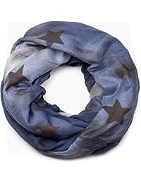 82d6f8481840b0 styleBREAKER Loop Schlauchschal mit Sterne und Vintage Farbverlauf Muster,  Schal, Tuch, Damen 01017034