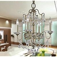 Lampadari ZJJ americano Lampadario Retro Village lampada della candela di cristallo Villa Living Room di cristallo