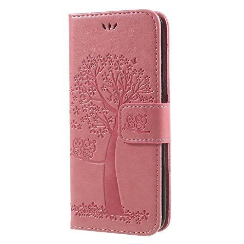 jbTec® Flip Case Handy-Hülle Book #M58 Baum zu Samsung Galaxy S8 - Handy-Tasche Schutz-Hülle Cover Handyhülle Bookstyle Booklet Handschlaufe, Farbe:Rosa, Modell:Galaxy S8 / Duos/SM-G950