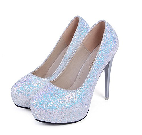 Unknown 1to9mmsg00227 - Sandales Compensées Femme Blanches