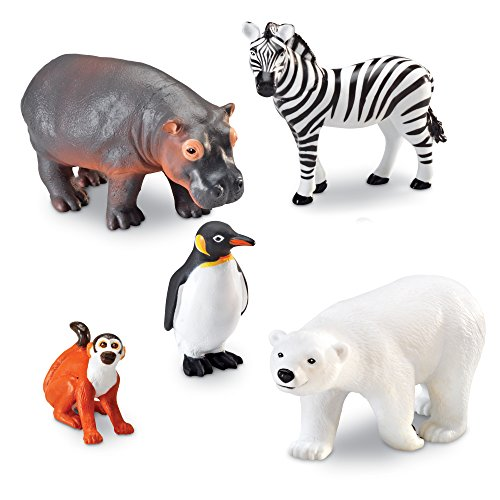 Learning Resources- Animales Jumbo del Zoo, Color (LER0788)